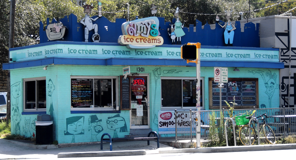 Amy's ice cream is the place to stop for a treat in Austin Texas