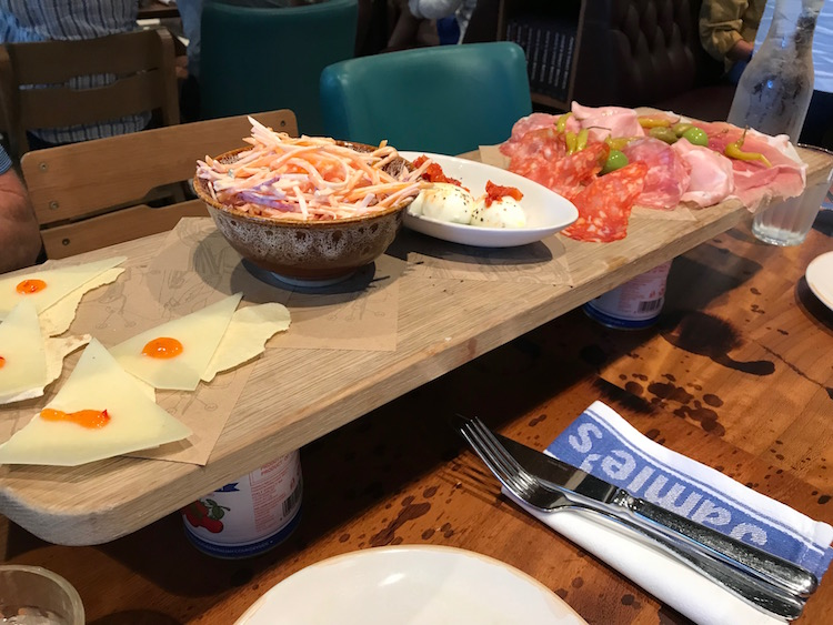 Appetizers at Jamie's Italian on the Symphony of the Seas is a multigenerational cruise favorite