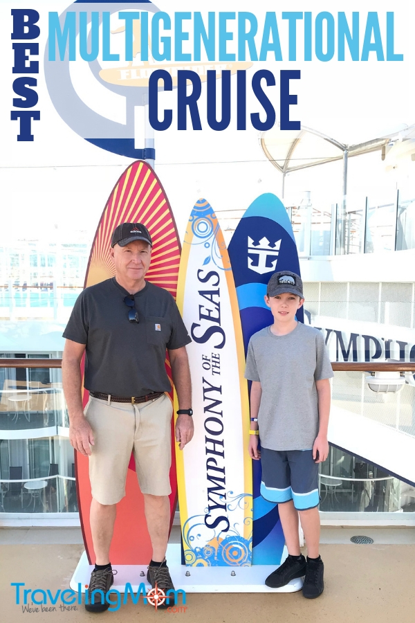 Looking to take your first multigenerational vacation with family? The ultimate idea is a Royal Caribbean cruise which is like several resorts all located on one ship. It stops in multiple destinations and has enough food and fun aboard to please kids, parents, and grandparents. #CruiseTips #FamilyTravel #Cruising #Multigenerational