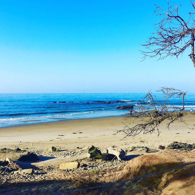 Carpinteria State Beach. Best Southern Calfornia Beaches for camping.
