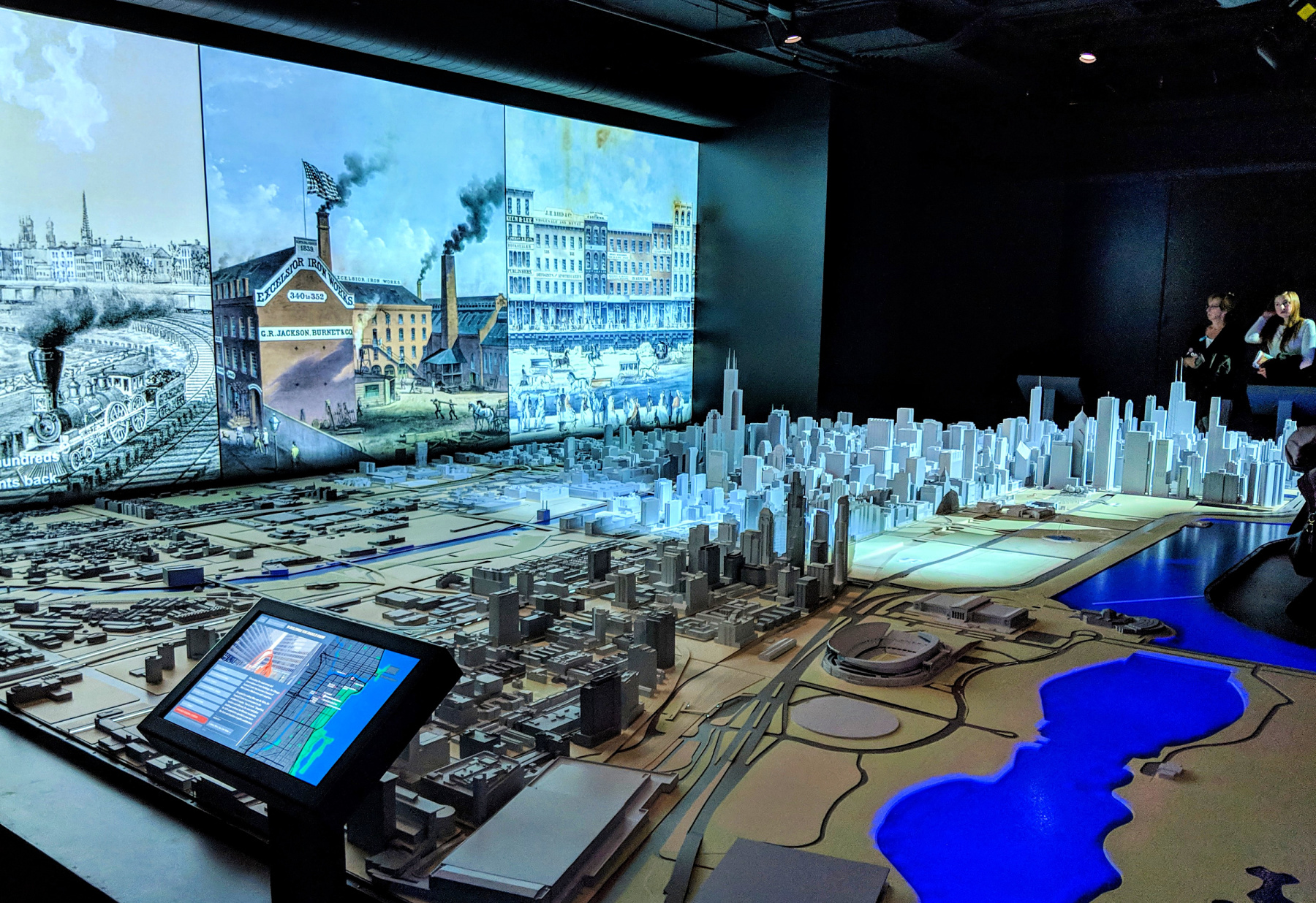 Visit this Chicago Architecture Center model of the city on a weekend in Chicago.