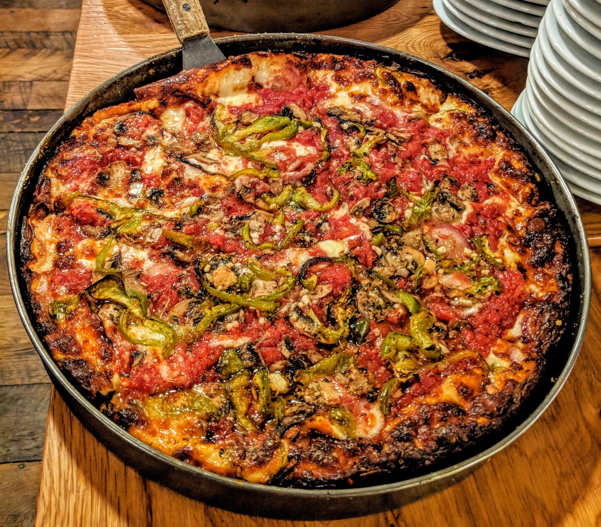 Take a Chicago pizza tour and deep dish pizza on a weekend in Chicago.