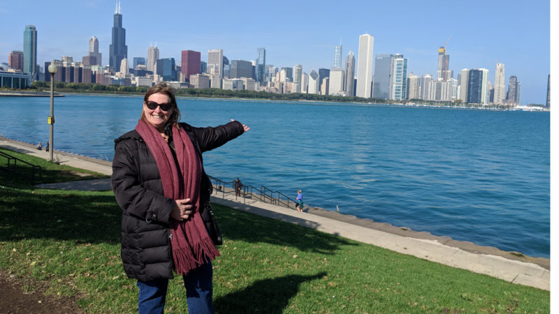 See the Chicago skyline on a weekend in Chicago.