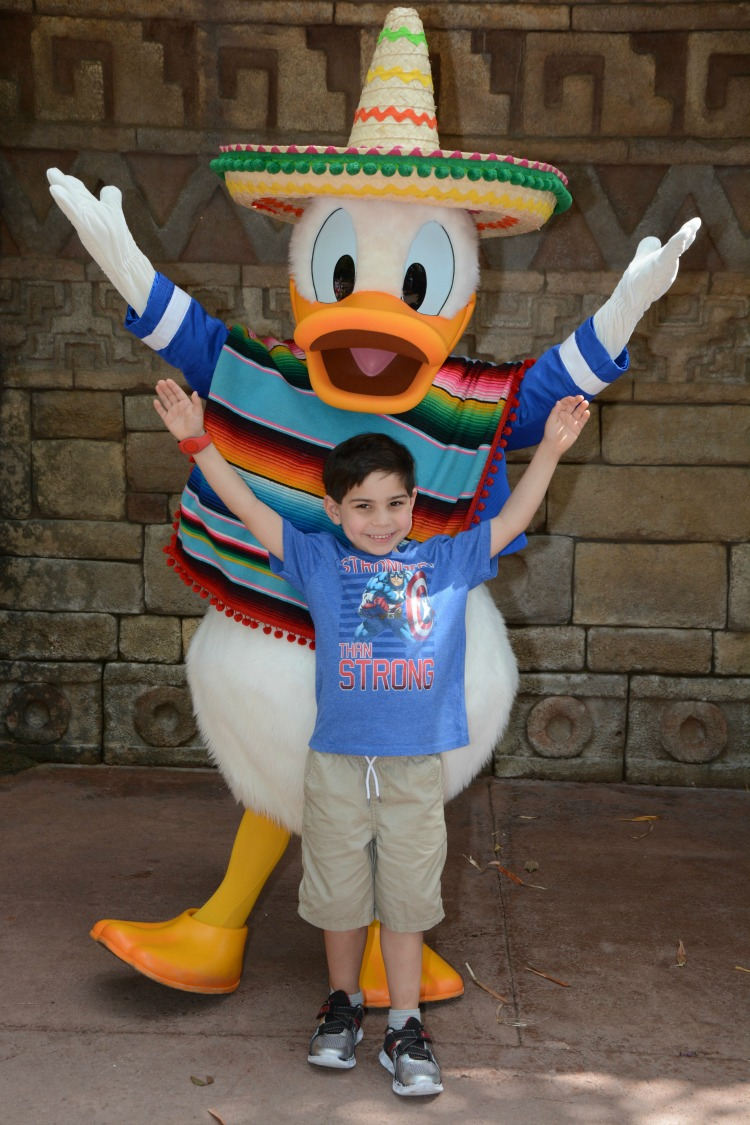 My son's favorite character is Donald Duck, as part of the Three Caballeros! Photo by Multidimensional TravelingMom, Kristi Mehes.