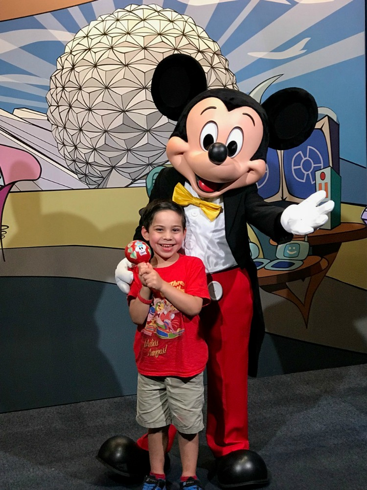 The character experiences are one of the best reasons to visit Epcot with toddlers. Photo by Multidimensional TravelingMom, Kristi Mehes.