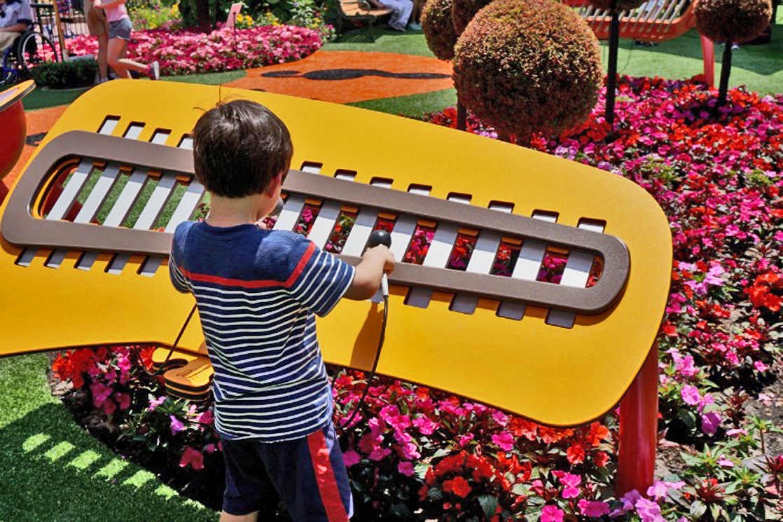 Special events throughout the year, like the Flower and Garden Festival, offer plenty of things for toddlers to do at Epcot. Photo by Multidimensional TravelingMom, Kristi Mehes.