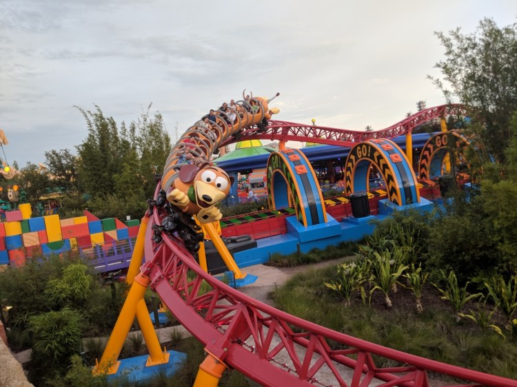 Hop on Slinky Dog Dash in Disney's Hollywood Studios Toy Story Land.