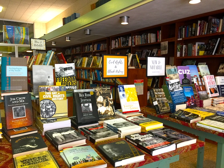 Unique places to visit in Alabama include civil rights museums and excellent bookstores