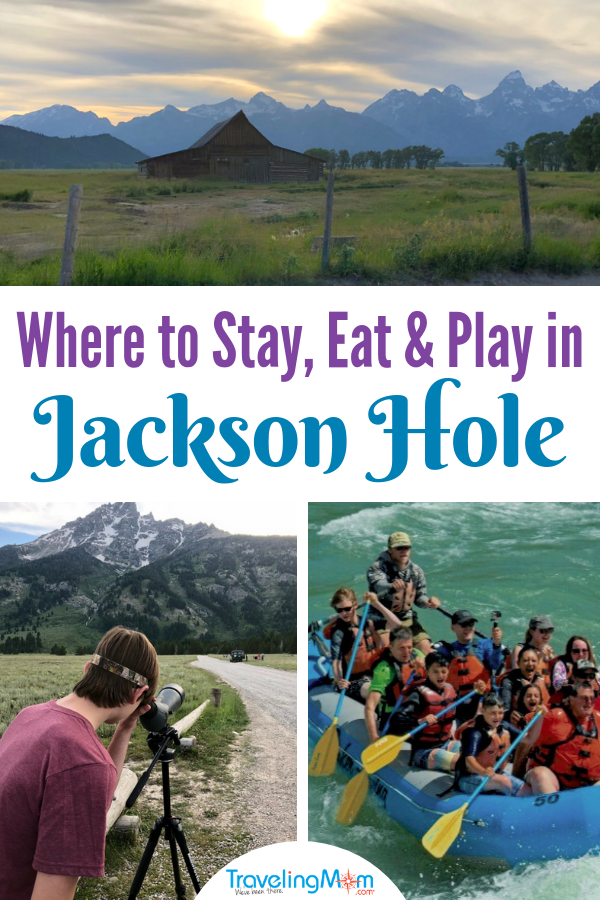 The Ultimate Guide to Jackson Hole: Where to Stay, Eat, and Play in greater Jackson, Wyoming. From whitewater rafting to horseback riding, luxury stays and dude ranches, the possibilities are endless. Includes Grand Teton National Park ideas. #JacksonHole #GrandTetons #nationalpark #Wyoming #GTNP #TMOM