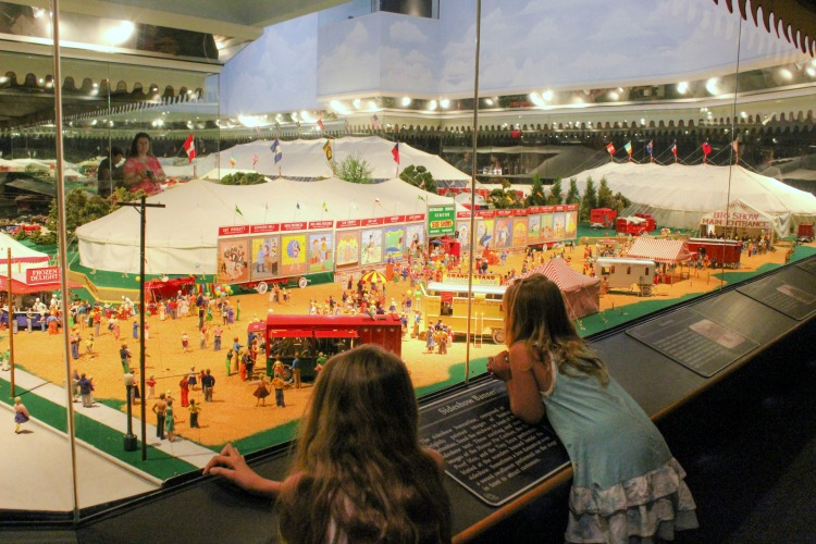 Kids and adults alike are fascinated by the miniature circus at the Ringling Circus Museum