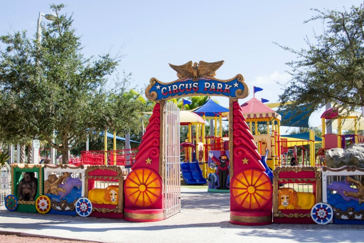 When you visit Sarasota with kids, they'll love playing in Circus Park