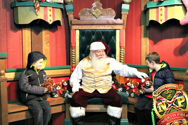 Meeting Santa at the North Pole Experience in Flagstaff, AZ