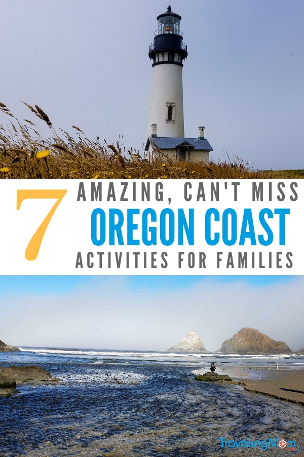 Heading to the Oregon Coast with kids for your family vacation? Check out these great activities to do on your trip. From lighthouses, to aquariums and more. This stretch of the West Coast is full of family fun and beaches. #OregonCoast #FamilyTravel #WestCoast #RoadTrips #Lighthouses #TMOM