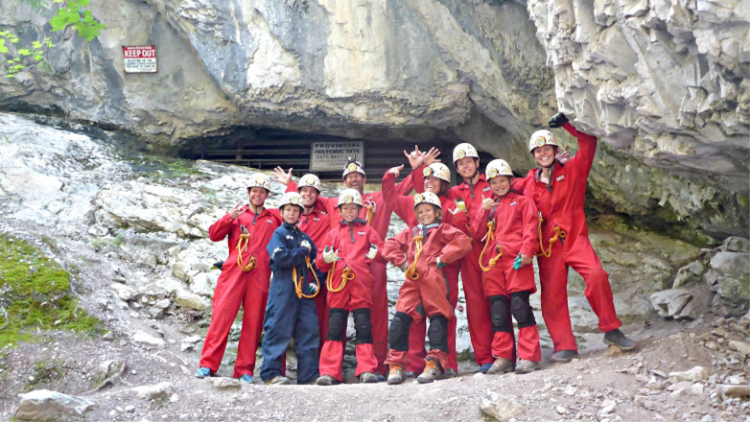 Caving with Canmore Cave Tours is one of the most Adventurous Things to Do In Canmore Alberta!