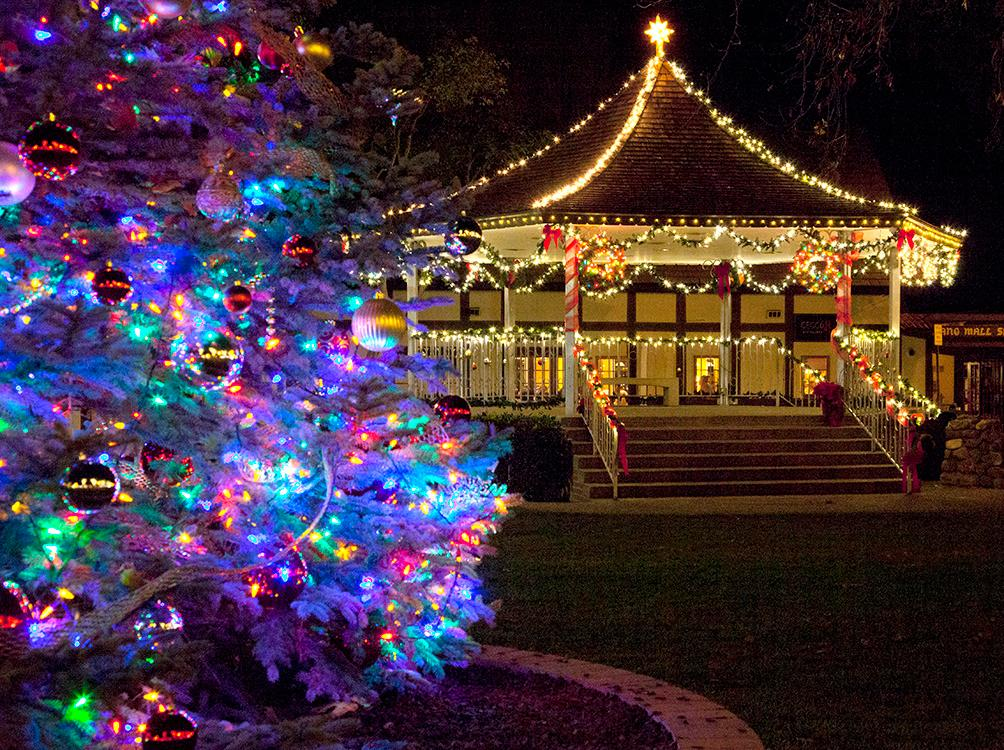 See holiday lights displays Danish style in Solvang