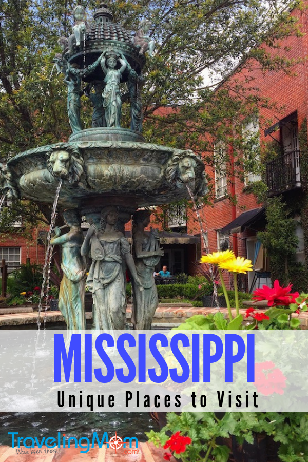 Unique places to visit in Mississippi are museums of civil rights history, Delta Blues, great restaurants.