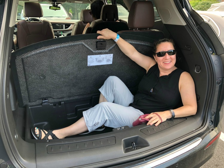 Demonstration of the extra cargo space in the Buick Enclave on TravelingMom