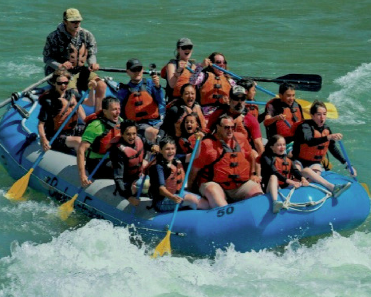 Splish splash down the Snake River, whitewater rafting is definitely on the things to do in Jackson Hole and the Grand Tetons list