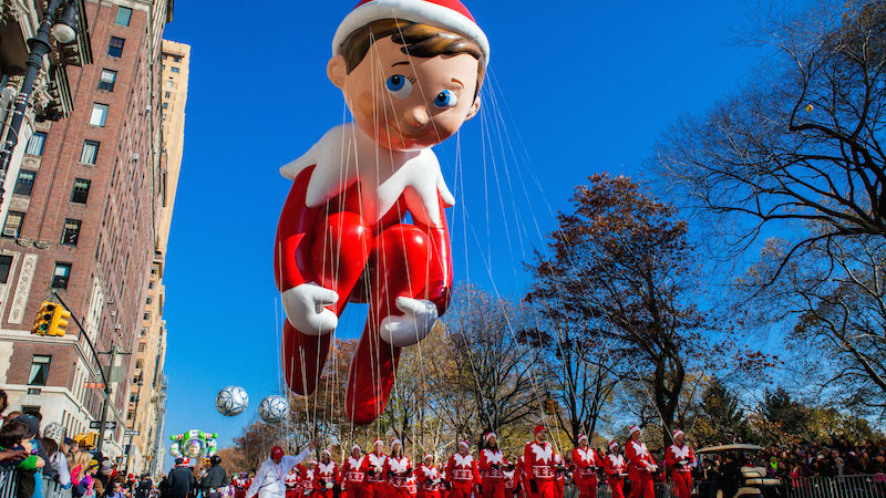 Giant balloon at the Macy's Thanksgiving Day Parade 2018.