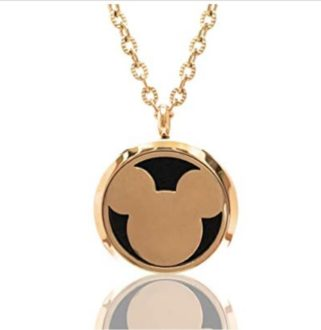 Mickey Mouse Aromatherapy Essential Oils Necklace Pendant - TravelingMom