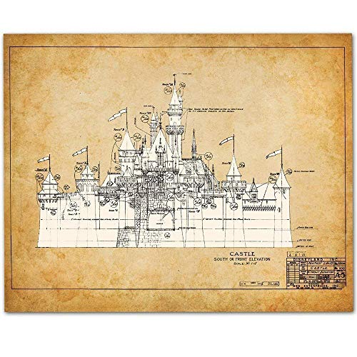 Great gift ideas for the Disney-loving adult: Sleeping Beauty Castle patent print.