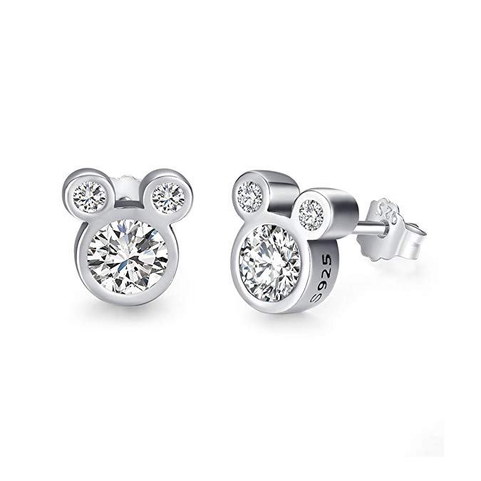 Great gift ideas for the Disney-loving adult: Mickey stud CZ earrings