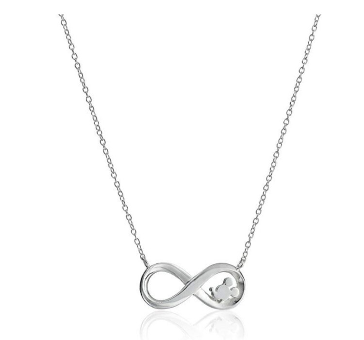 Great gift ideas for the Disney-loving adult: A sweet infinity pendant necklace with just a hint of Disney.