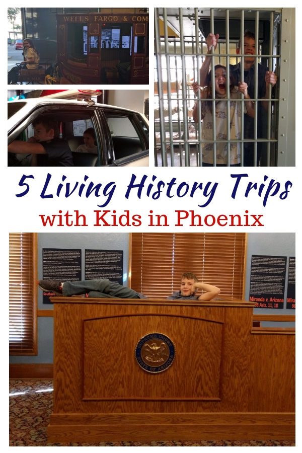 Headed to Phoenix, AZ, with the kids - and on a budget? From where to park to the best freebies, here are five free living history trips with kids in Phoenix! #FreeTravel #FamilyTravel #Phoenix #TMOM #Freebies