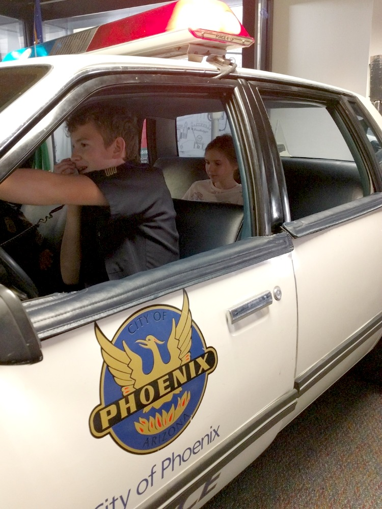 Living history trips with kids in Phoenix: Phoenix Police Museum