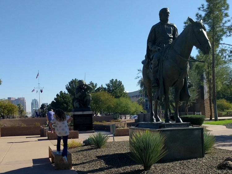 Living history trips with kids in Phoenix: Wesley Bolin Memorial Plaza