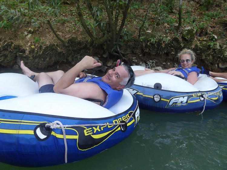 Tubing is a great activity for parents and young adult kids on Jamaica.