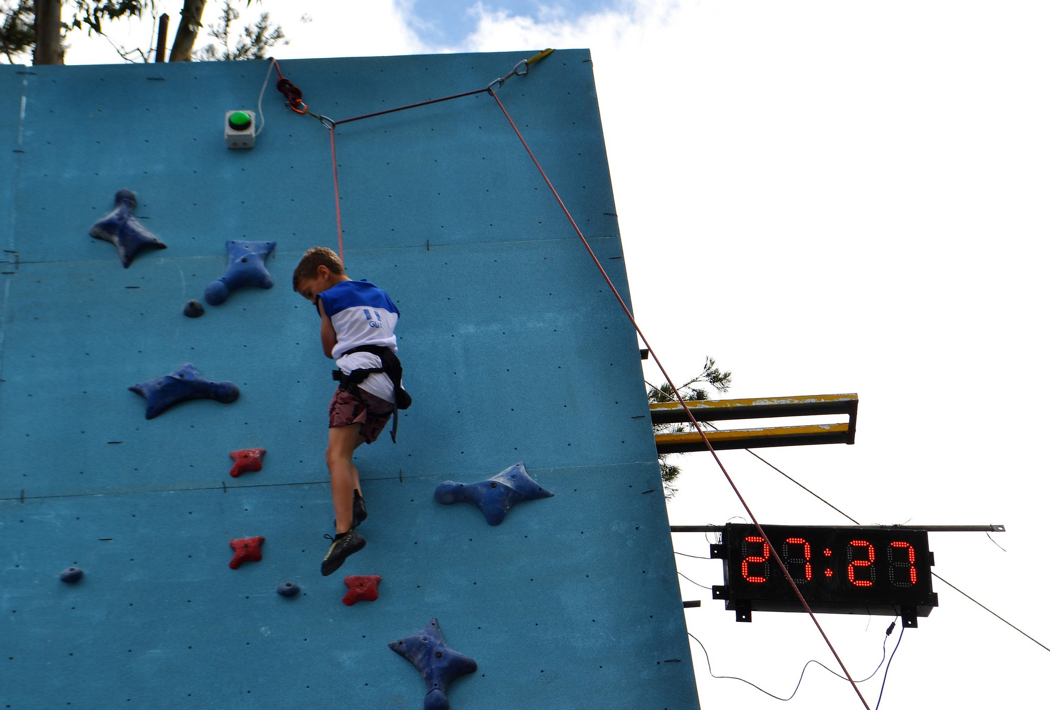 Competitive Rock Climbing with Kids: Speed Competition