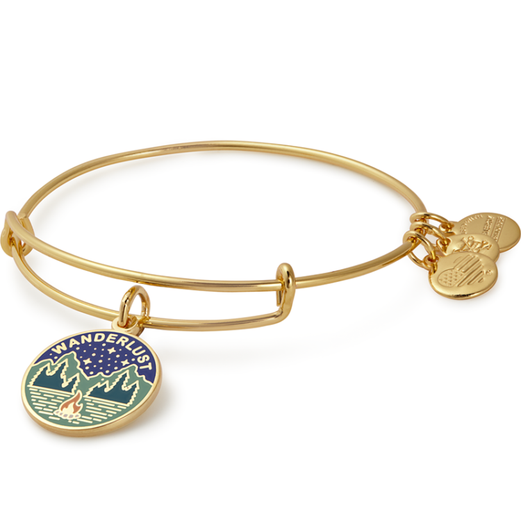 Wear your passions with this Alex and Ani Wanderlust bracelet. | TravelingMom Best Travel Gifts for Women
