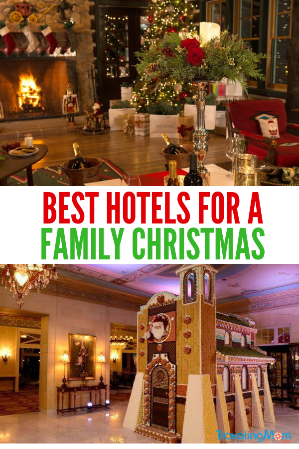 The Best Christmas Hotels for families to enjoy the season. #ChristmasVacation #BreakfastwithSanta #FamilyVacation