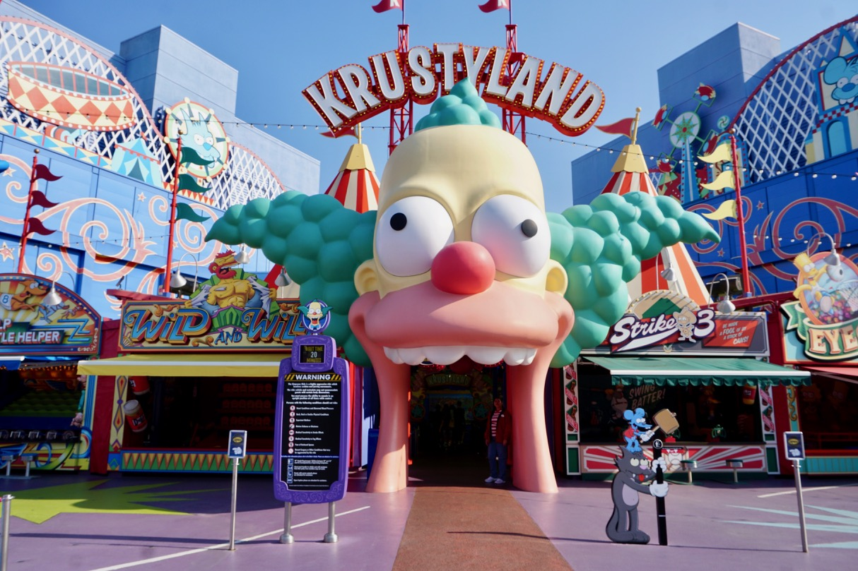 The entrance to the Simpsons Ride at Universal Studios Hollywood. Photo by Multidimensional TravelingMom, Kristi Mehes.