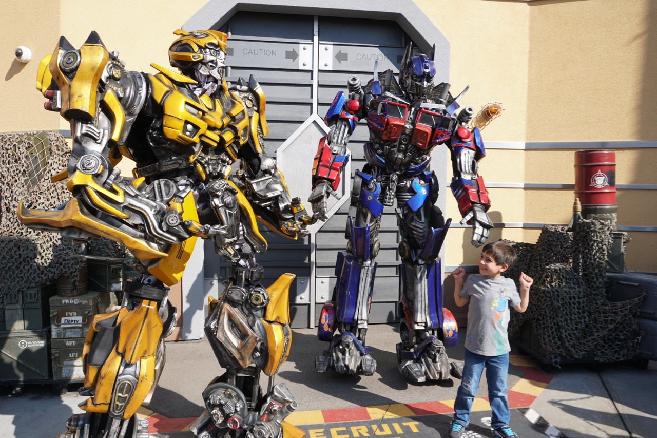 Optimus Prime and Bumblebee are some of the best character meet and greets we have experienced. Photo by Multidimensional TravelingMom, Kristi Mehes.