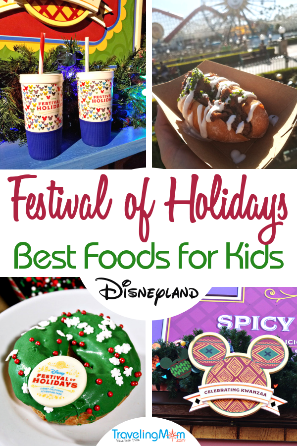 Disney Festival of Holidays is an annual seasonal event held inside the Disney California Adventure park at the Disneyland Resort. Find out all the details in this guide to the Disney Festival of Holidays with kids including what to eat, whether the Sip & Savor Pass is a good idea and budget tips for dining. This is a can't miss event each Christmas season at Disneyland! #Disneyland #California #FestivalofHolidays #Disney | Disney Holidays | Holidays at Disneyland | Christmas at Disneyland #TMOM