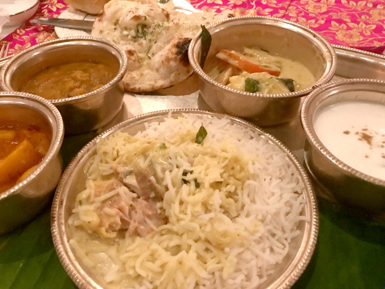 Meal at the Samode Palace, India.