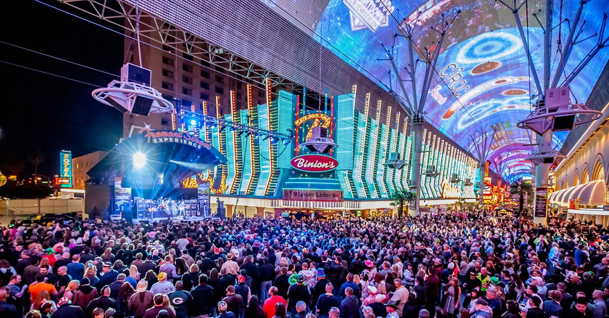 While Freemont Street is a fun and vibrant Free Things To Do In Las Vegas, it might not be family friendly.