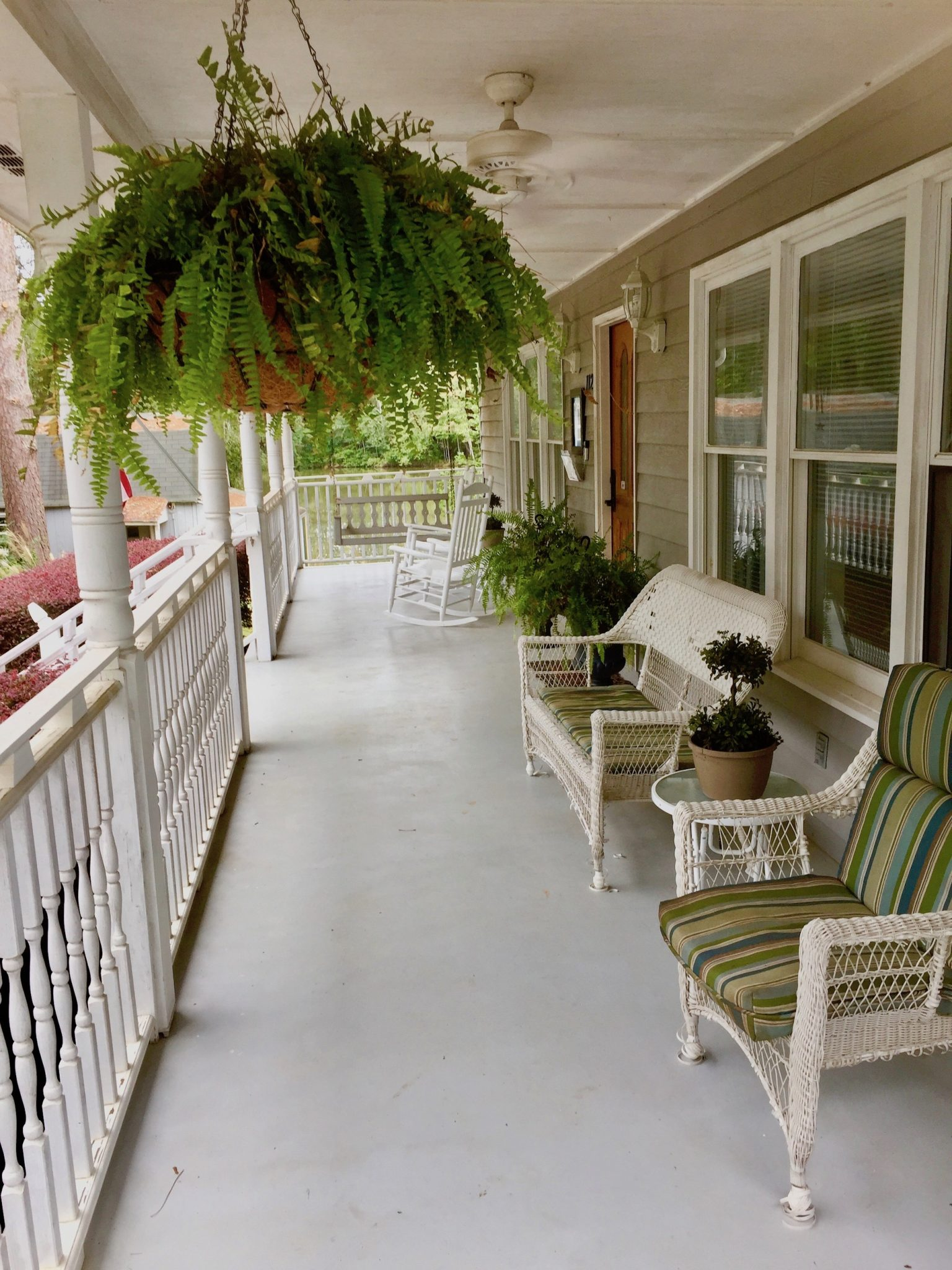 Outdoor fun in Henry County might be as simple as rocking on the front porch of a B&B.