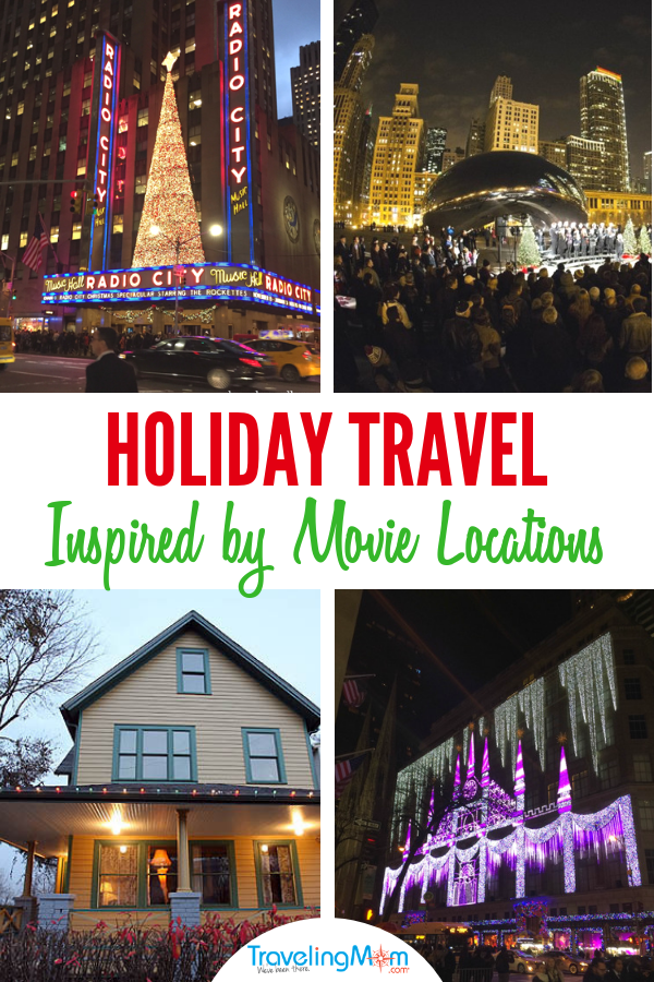 "Here's how to put the Ho-Ho-Ho in the holidays. Plan a trip inspired by your favorite Christmas movies! 3 of the best holiday travel movie locations include New York, Cleveland and Chicago, homes to ""Home Alone"", """"A Christmas Story"", and ""Elf."" #holidays #holidaymovies #holidaytravel #familytravel #TMOM"