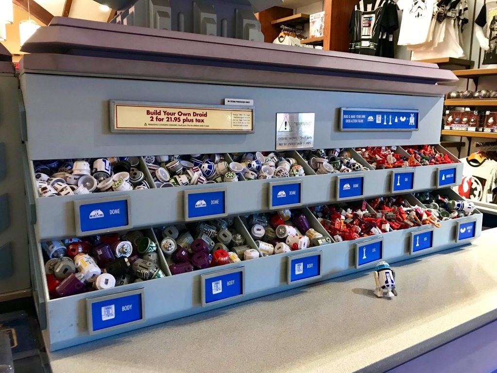 Build your own droid at Galactic Outpost at Disney Springs