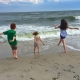 Kids at the ocean