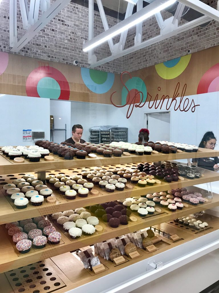 One of the best things for families in Disney Springs is to visit the Sprinkles bakery.