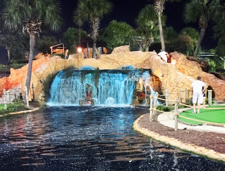 Look for coupons to reduce the price of mini-golf when doing Myrtle Beach on a budget.