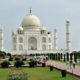 The Taj Mahal is on the itinerary for the TravelingMom India Tour
