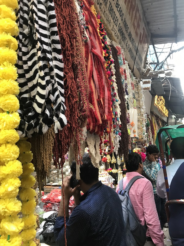 Marketplace in Delhi, India.