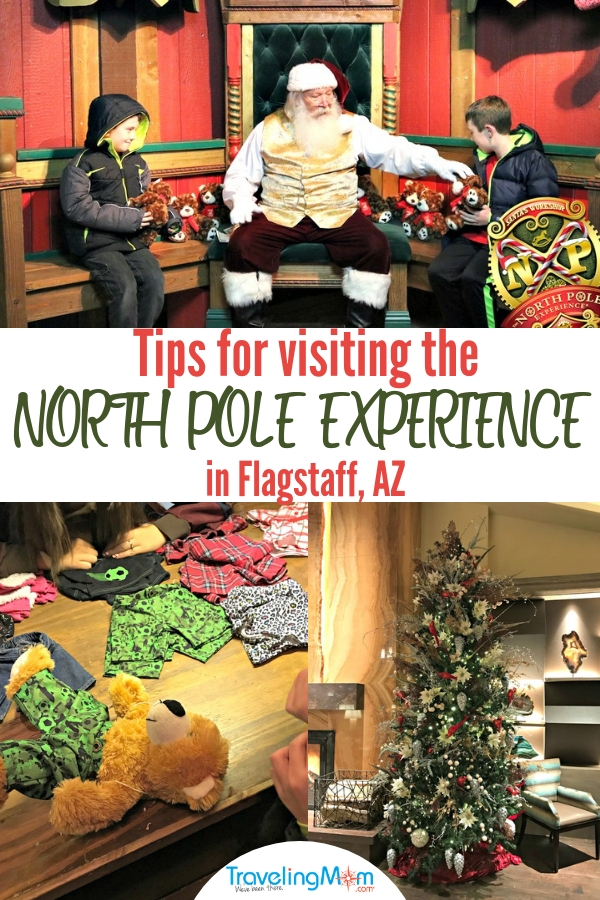 Tips for Visiting the North Pole Experience in Flagstaff, Arizona including what to expect inside Santa's Workshop and what's included with admission.