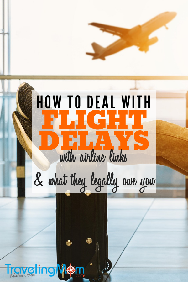 Do you know what flight compensation you are owed if there is a flight delay? We cover what you should do if your flight is delayed. #travelingmom #flightdelay #holidaytravel #travel