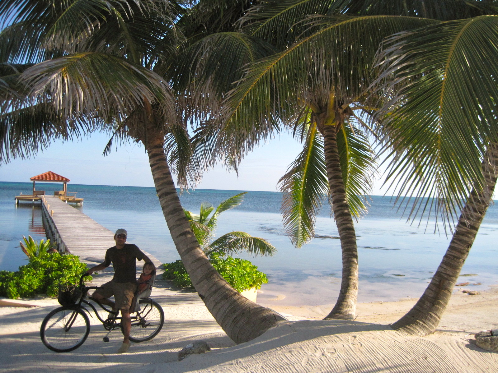 Best Beaches in Central America for Families: Biking with Kids along the beach of Ambergris Caye, Belize